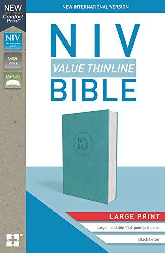 NIV, Value Thinline Bible, Large Print, Leathersoft, Teal, Comfort Print
