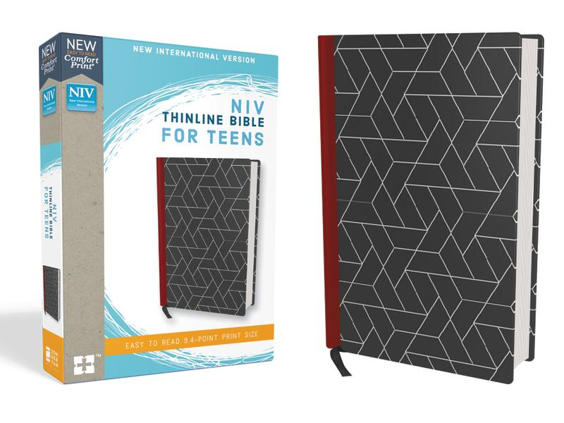 NIV, Thinline Bible for Teens, Hardcover, Black, Red Letter Edition, Comfort Print