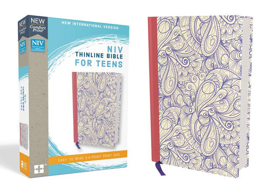 NIV, Thinline Bible for Teens, Hardcover, Purple, Red Letter Edition, Comfort Print