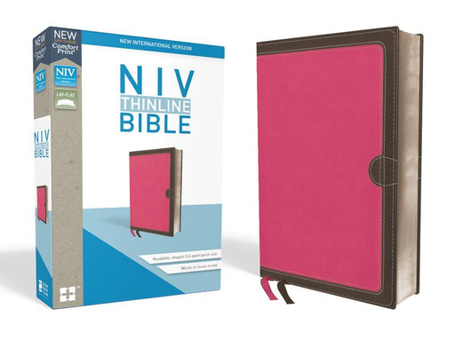 NIV, Thinline Bible, Leathersoft, Pink, Red Letter Edition, Comfort Print