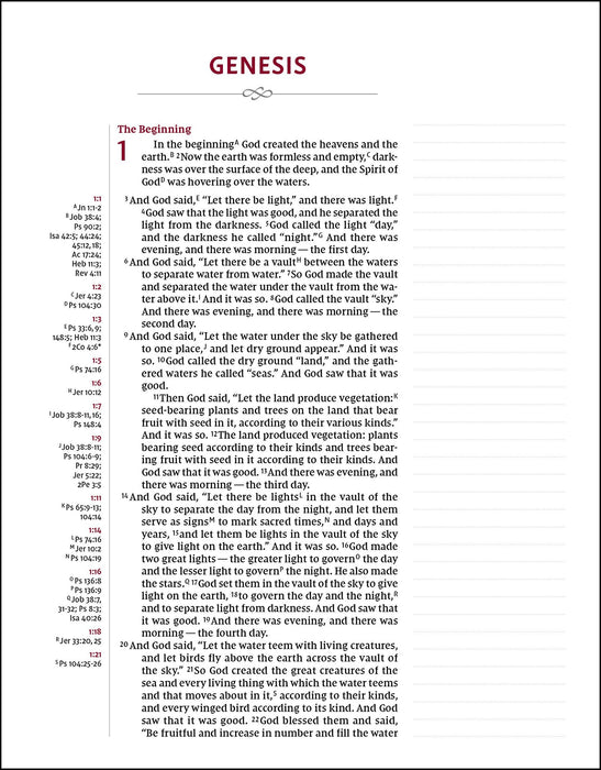 NIV, Journal the Word Reference Bible, Hardcover, Black, Red Letter Edition, Comfort Print: Let Scripture Explain Scripture. Reflect on What You Learn.