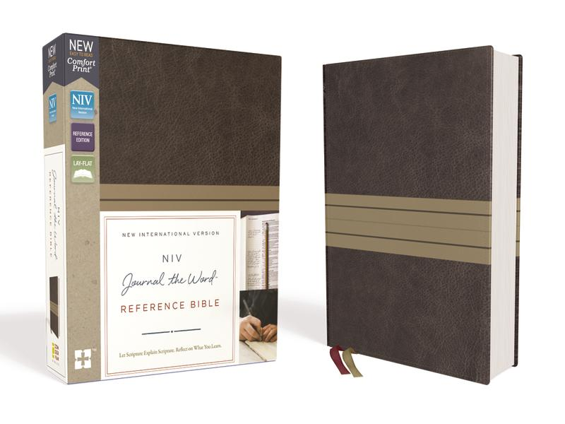 NIV, Journal the Word Reference Bible, Leathersoft, Brown/Tan, Red Letter Edition, Comfort Print: Let Scripture Explain Scripture. Reflect on What You Learn.