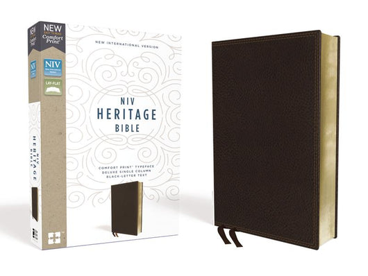 NIV, Heritage Bible, Deluxe Single-Column, Leathersoft, Brown, Comfort Print