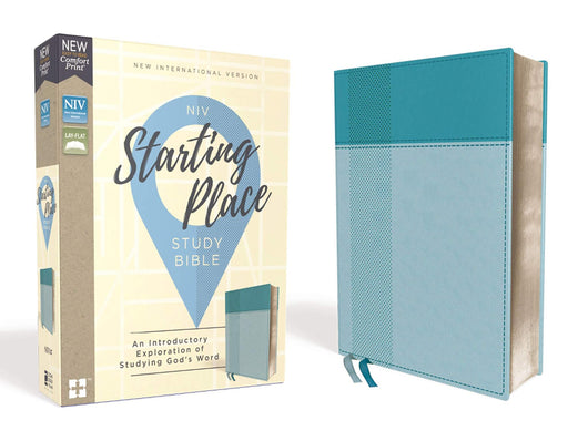 NIV, Starting Place Study Bible, Leathersoft, Teal, Indexed, Comfort Print: An Introductory Exploration of Studying God's Word