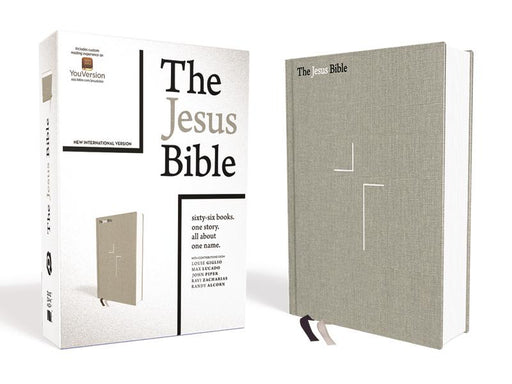 The Jesus Bible, NIV Edition, Cloth over Board, Gray Linen, Comfort Print