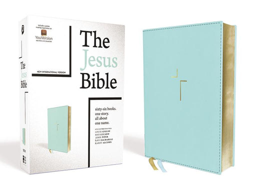 The Jesus Bible, NIV Edition, Leathersoft, Blue, Comfort Print