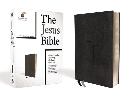 The Jesus Bible, NIV Edition, Leathersoft, Black, Indexed, Comfort Print