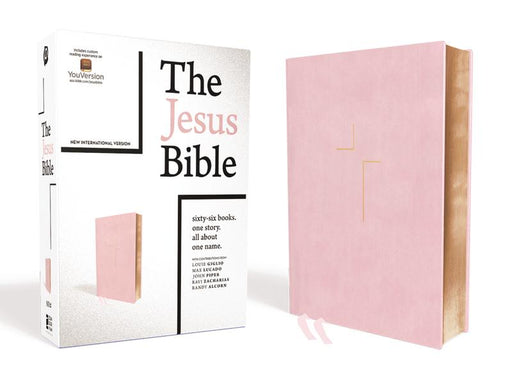 The Jesus Bible, NIV Edition, Leathersoft over Board, Pink, Indexed, Comfort Print