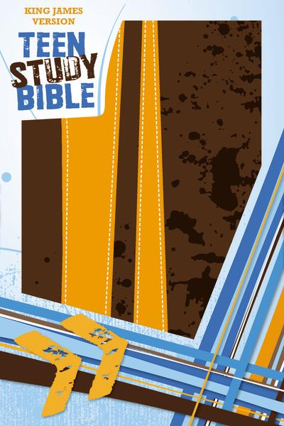 KJV, Teen Study Bible, Leathersoft, Brown/Orange