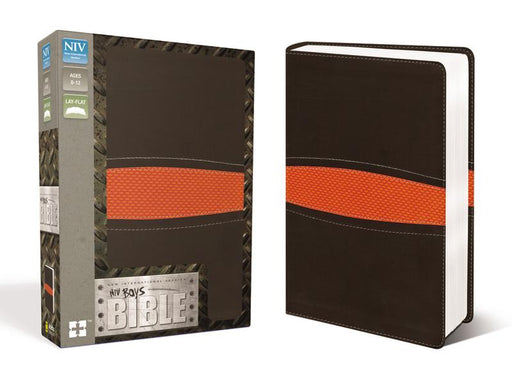 NIV, Boys Bible, Leathersoft, Brown/Orange