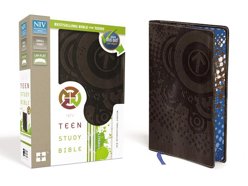 NIV, Teen Study Bible, Compact, Leathersoft, Brown, Printed Page Edges