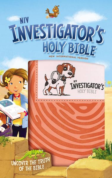 NIV, Investigator's Holy Bible, Leathersoft, Coral: Uncover the Truth of the Bible