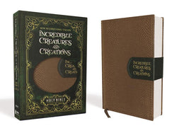 NIV, Incredible Creatures and Creations Holy Bible, Leathersoft, Tan/Green