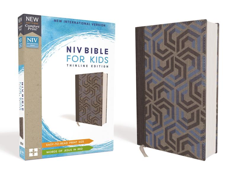 NIV, Bible for Kids, Cloth over Board, Blue, Red Letter Edition, Comfort Print: Thinline Edition