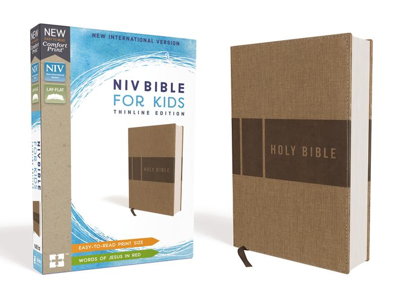 NIV, Bible for Kids, Leathersoft, Tan, Red Letter Edition, Comfort Print: Thinline Edition