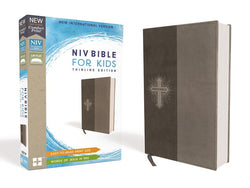 NIV, Bible for Kids, Leathersoft, Gray, Red Letter Edition, Comfort Print: Thinline Editione Edition