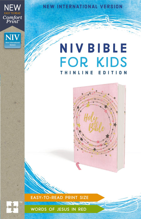 NIV, Bible for Kids, Flexcover, Pink/Gold, Red Letter Edition, Comfort Print: Thinline Edition