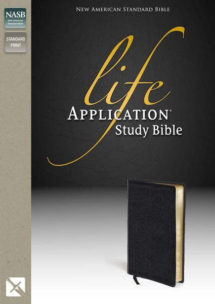 NASB, Life Application Study Bible, Second Edition, Bonded Leather, Black