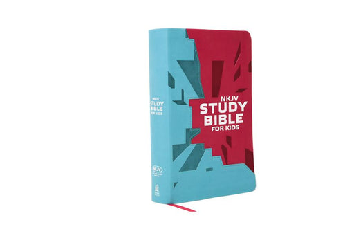 NKJV, Study Bible for Kids, Leatherflex, Pink/Teal: The Premiere NKJV Study Bible for Kids