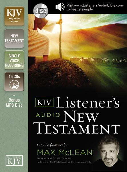 KJV, Listener's Audio New Testament, Audio CD: Vocal Performance by Max McLean