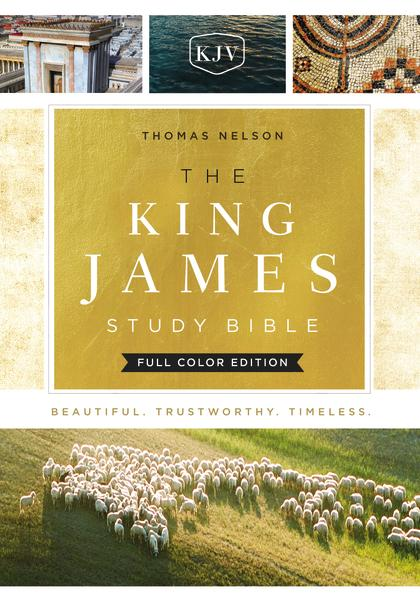 KJV, The King James Study Bible, Cloth over Board, Red Letter, Full-Color Edition: Holy Bible, King James Version
