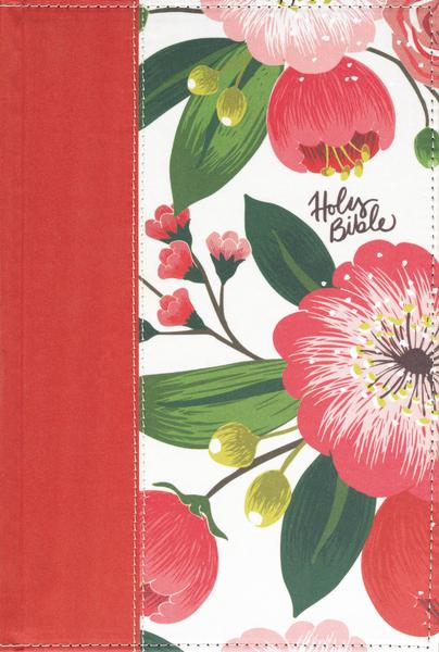 The NKJV, Woman's Study Bible, Cloth over Board, Pink Floral, Full-Color, Red Letter, Thumb Indexed: Receiving God's Truth for Balance, Hope, and Transformation