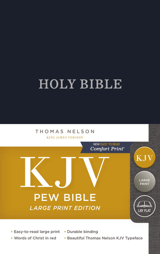 KJV, Pew Bible, Large Print, Hardcover, Blue, Red Letter Edition, Comfort Print: Holy Bible, King James Version