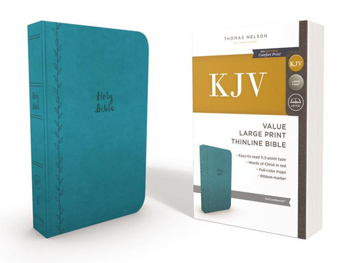 KJV, Value Thinline Bible, Large Print, Leathersoft, Blue, Red Letter Edition, Comfort Print: Holy Bible, King James Version