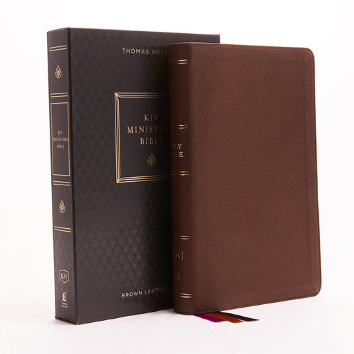 KJV, Minister's Bible, Leathersoft, Brown, Comfort Print: Holy Bible, King James Version