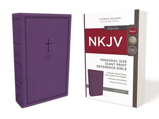 NKJV, Reference Bible, Personal Size Giant Print, Leathersoft, Purple, Red Letter Edition, Comfort Print: Holy Bible, New King James Version