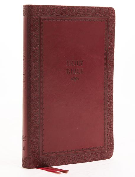 KJV, Thinline Bible, Leathersoft, Red, Thumb Indexed, Red Letter Edition, Comfort Print: Holy Bible, King James Version