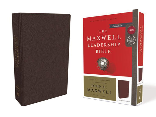 NKJV, Maxwell Leadership Bible, Third Edition, Premium Bonded Leather, Burgundy, Comfort Print: Holy Bible, New King James Version