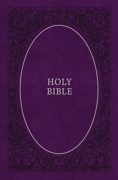 KJV, Holy Bible, Soft Touch Edition, Leathersoft, Purple, Comfort Print: Holy Bible, King James Version