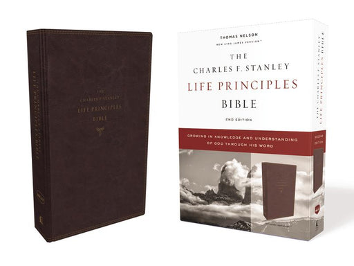 NKJV, Charles F. Stanley Life Principles Bible, 2nd Edition, Leathersoft, Burgundy, Comfort Print: Growing in Knowledge and Understanding of God Through His Word