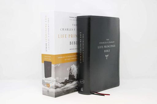 KJV, Charles F. Stanley Life Principles Bible, 2nd Edition, Leathersoft, Black, Thumb Indexed, Comfort Print: Growing in Knowledge and Understanding of God Through His Word