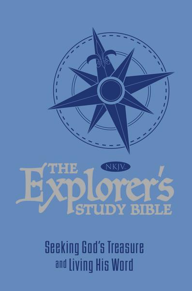 The NKJV, Explorer's Study Bible, Leathersoft, Blue: Seeking God's Treasure and Living His Word