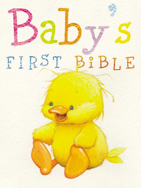 NKJV, Baby's First Bible, Hardcover, White