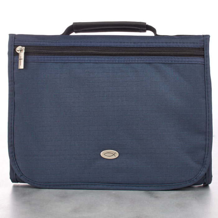 Polyester Tri-fold Organizer in Navy Bible Cover