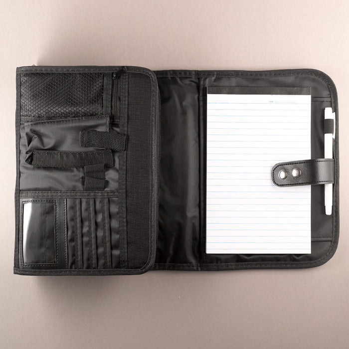 Polyester Tri-fold Organizer in Black Bible Cover
