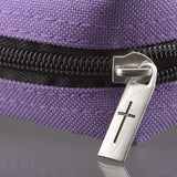 Polyester Canvas with Fish Badge in Purple Bible Cover