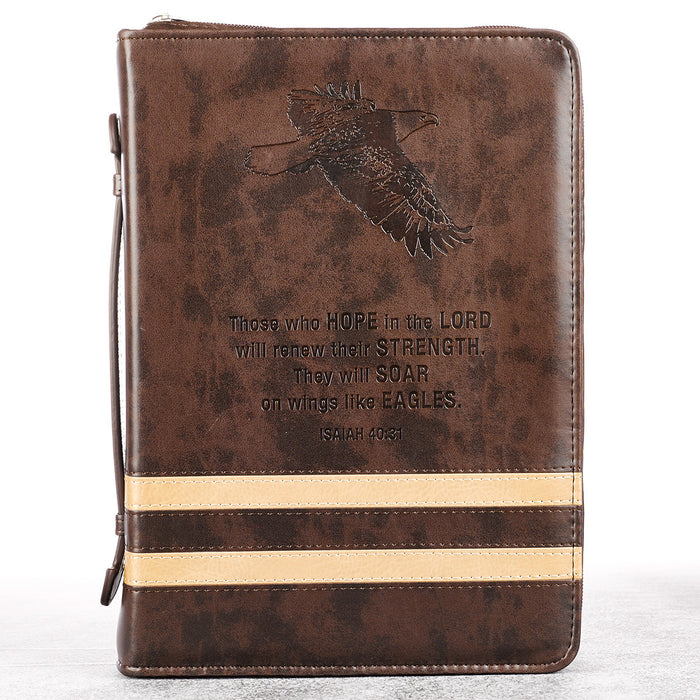 Two-Tone Stripe Isaiah 40:31 Bible Cover