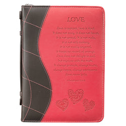 Love in Pink 1 Corinthians 13:4-8 Bible Cover