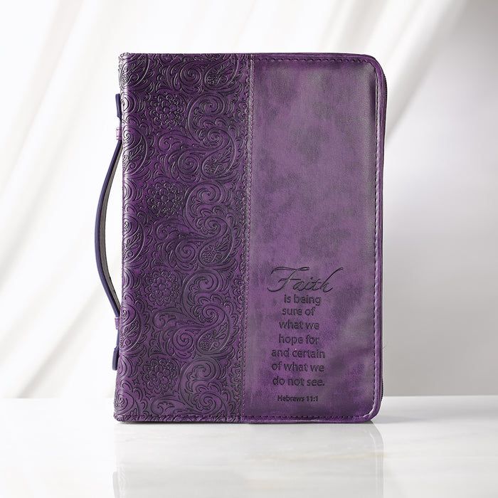 Faith in Purple Hebrews 11:1 Bible Cover