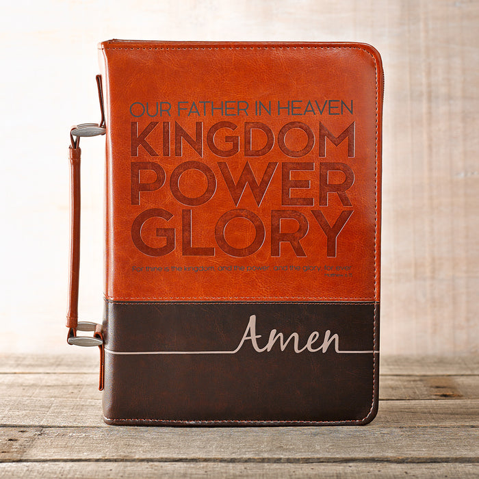 The Lord's Prayer in Two-Tone Brown Bible Cover