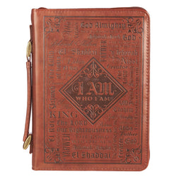 Names of God in Brown Luxleather Bible Cover