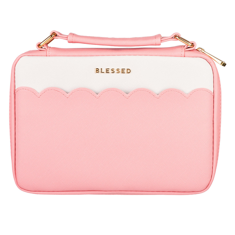 Blessed Pink Scalloped Bible Cover