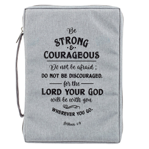 Strong and Courageous Poly-Canvas Bible Cover