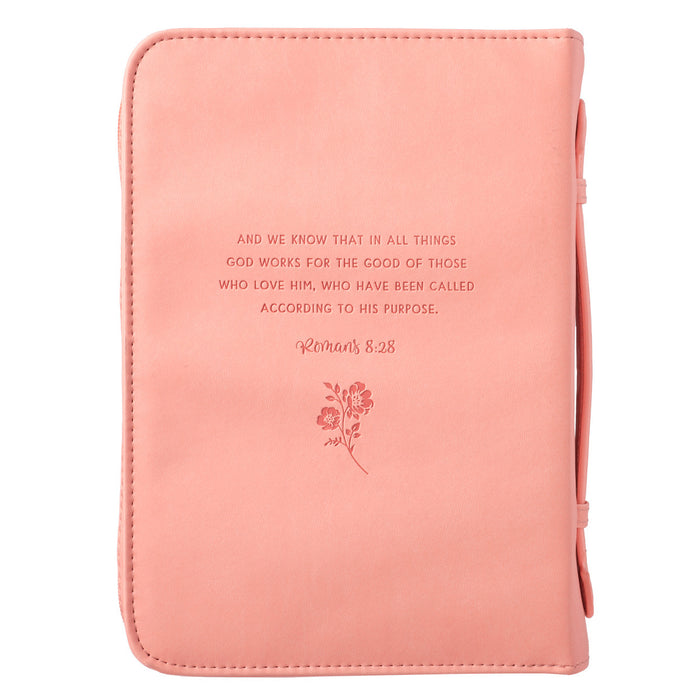 He Works All Things for Good Bible Cover - Romans 8:28