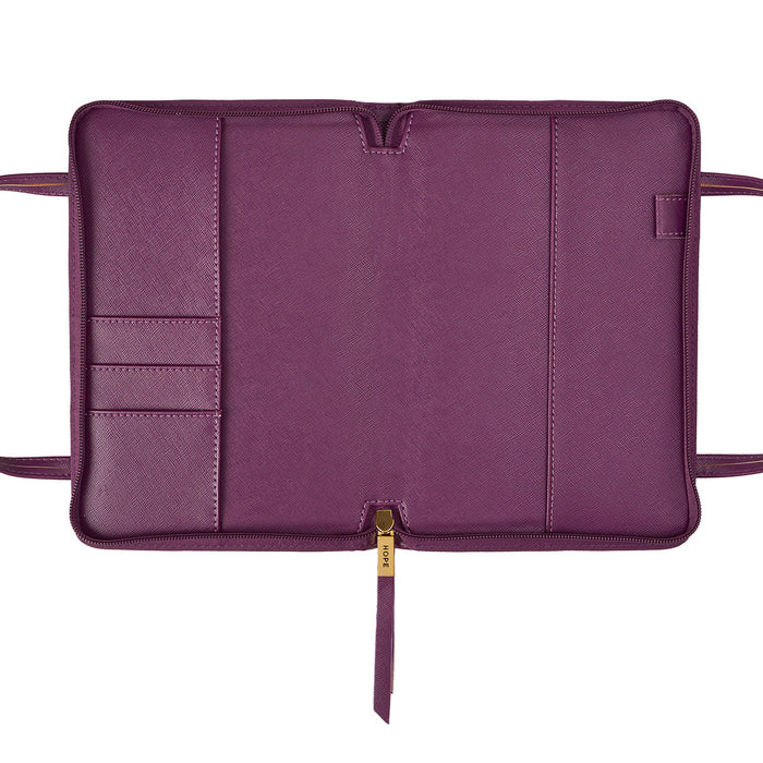 Thinline Hope with Zipper in Purple Bible Cover