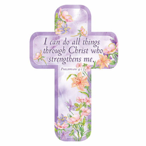 Philippians 4:13 Paper Cross Bookmark in packs of 12: $0.49 Each